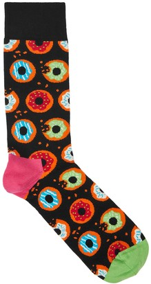 Happy Socks Doughnut-intarsia cotton-blend socks