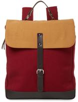 Multicolored Messenger Backpack