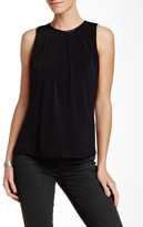Fate Faux Leather Trim Crew Neck Tank