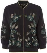 Biba Rose embellished batwing bomber jacket