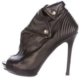 Alexander McQueen Leather Moto Booties