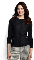 Classic Women's Petite Supima Lace Pocket Cardigan Sweater-Ivory