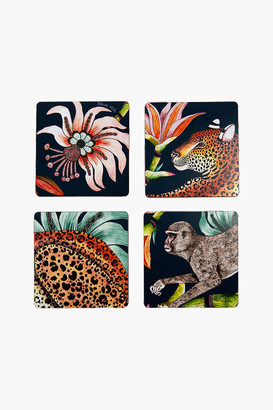 Ardmore Design Moonlight Monkey Paradise Coasters (Set of 4)