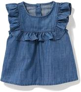 Old Navy Ruffled Chambray Top for Baby