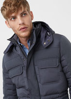 MANGO MAN Feather Down Hooded Coat