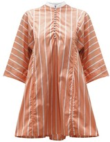 Thierry Colson Rachel Striped Cotton Kaftan - Womens - Brown