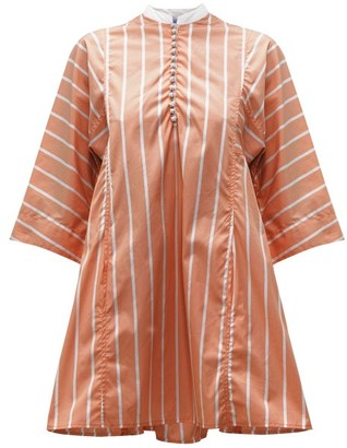 Thierry Colson Rachel Striped Cotton Kaftan - Brown