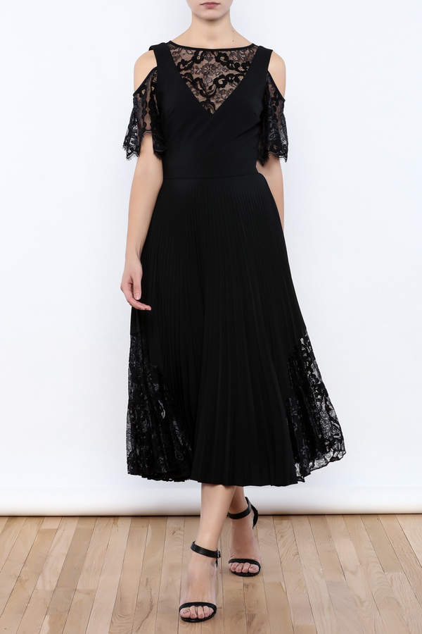 Nicole Miller Black Illusion Dress