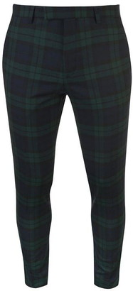 Twisted Tailor Twisted Mens Ginger Tartan Suit Trousers