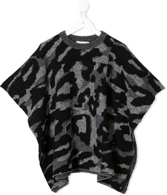 Stella Mccartney Kids Camouflage Knitted Top