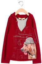 John Galliano Boys' Printed Hooded Shirt