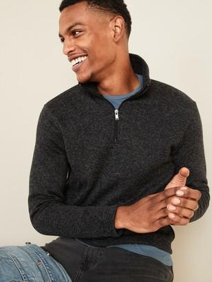 Old Navy Sweater-Fleece 1/4-Zip Mock-Neck Sweatshirt for Men