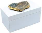 Mapleton Drive Large Lacquer Box with Natural Mineral