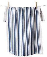 "KAF Home Basket Weave Kitchen Towel, 100% Cotton, Super Absorbent, Oversized at 20"" x 30"", White with Blue Stripes"