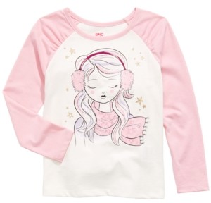 Epic Threads Little Girls Winter Weather Girl T-Shirt, Created For Macy's