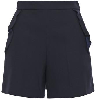 Sandro Janiele Ruffled Canvas Shorts