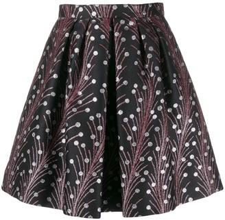 Marco De Vincenzo Floral Mini Skirt