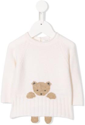 Il Gufo Teddy Bear Intarsia Jumper