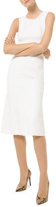 Michael Kors Collection Sleeveless Fishtail-Hem Boucle Sheath Dress