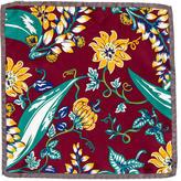 Prada Floral Print Silk Pocket Square