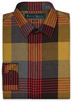 Perry Ellis Slim Fit Long Sleeve Plaid Shirt