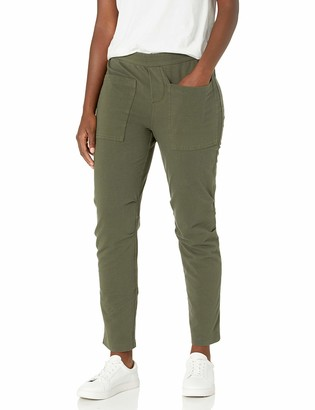 Daily Ritual Amazon Brand Women's Stretch Cotton Knit Twill Seamed Utility Pant