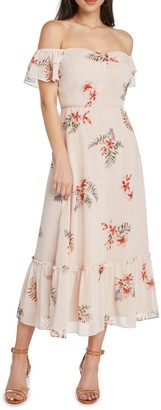 Willow & Clay Off-the-Shoulder Floral Print Dress