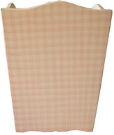 The Well Appointed House Hand Painted Pink Gingham Wastebasket