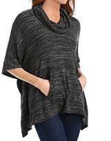 Splendid Women's Tri-Blend Cowl Neck Poncho Sweatshirt
