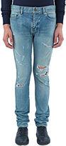 Saint Laurent Men's 5 Pocket New Trash Jeans In Blue