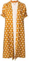 Tory Burch geometric print kimono coat - women - Silk/Polyester - 4