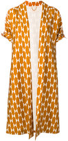 Tory Burch geometric print kimono coat - women - Silk/Polyester - 8