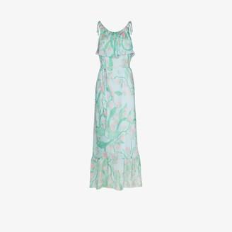Helmstedt Strawberry print flared dress