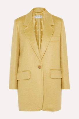 Max Mara Canga Mohair-blend Blazer - Yellow