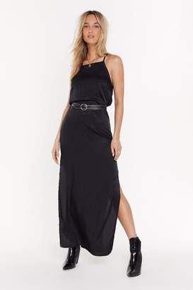Nasty Gal Womens Back to You Open Back Maxi Dress - black - 8