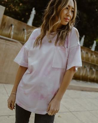 The Drop Women's Tie Dye Single Shoulder Slit Oversized Tee by @spreadfashion XXS