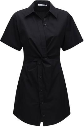 Alexander Wang Cotton Poplin Mini Dress W/ Cutouts