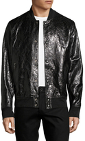 Diesel Black Gold Larbirbo Leather Bomber Jacket