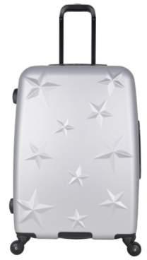 Aimee Kestenberg Luggage Star Molded 24-Inch Checked Hard Shell Luggage