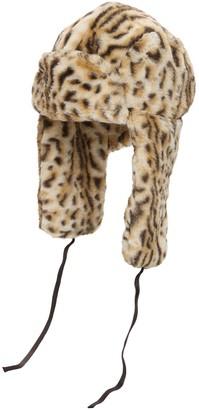 Kangol Leopard Print Faux Fur Trapper Hat