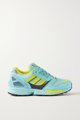 adidas Zx 8000 Suede And Mesh Sneakers - Turquoise