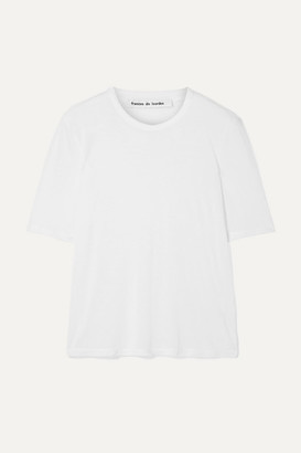 Frances De Lourdes Frances de Lourdes - Martin Slub Modal And Silk-blend T-shirt - White