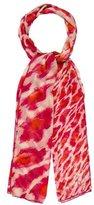 Christian Dior Silk Leopard Scarf