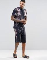 Asos Loungewear Pajama Shorts With Floral Print
