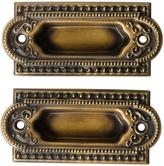 Rejuvenation Pair of NOS Revival Style Sash Lifts c1890s