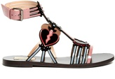 Valentino Love Blade patent-leather flat sandals