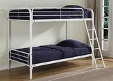 DHP Twin Over Twin, Metal Bunk Bed - White