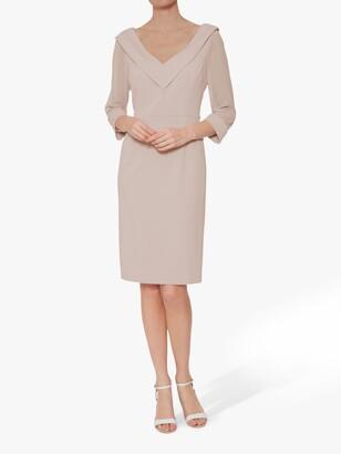 Gina Bacconi Cynthia Crepe And Chiffon Dress