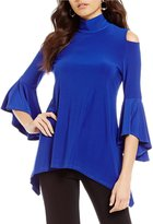 IC Collection Bell Sleeve Cold-Shoulder Tunic