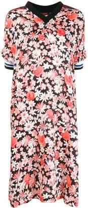 McQ contrast print midi-dress